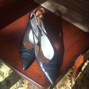 NWOT Jones NY black slingback shoes. Never worn.